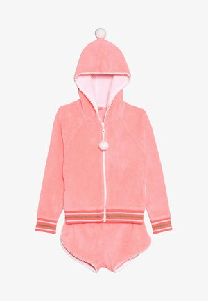 GIRLS TOWELLING SET - veste en sweat zippée - sherbert pink