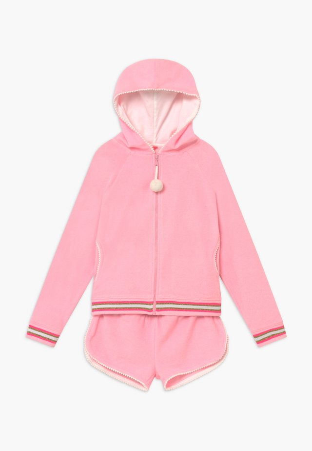 GIRLS LONG SLEEVE TOWELLING SET - Bluza rozpinana - pink