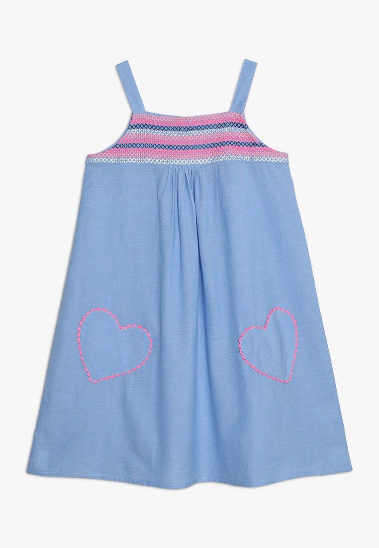 Sunuva - GIRLS SMOCKED DRESS - Freizeitkleid - blue