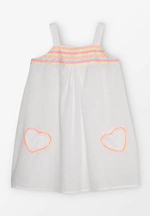 GIRLS SMOCKED TOP DRESS - Robe d'été - white