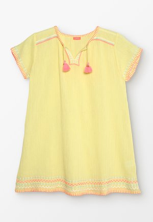 GIRLS NEW CHEESECLOTH DRESS - Day dress - yellow