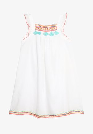 GIRLS FLUTTER DRESS - Freizeitkleid - white