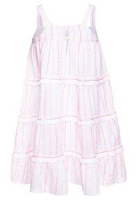Sunuva - GIRLS STRIPE FRINGED TIER DRESS - Sukienka letnia - pink - 1