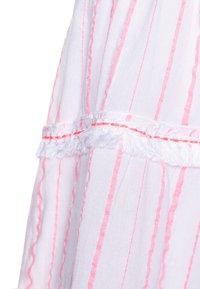 Sunuva - GIRLS STRIPE FRINGED TIER DRESS - Sukienka letnia - pink - 2