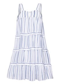 Sunuva - STRIPE FRINGED TIER DRESS - Sukienka letnia - blue - 1