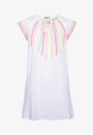 GIRLS EMBROIDERED CHEESECLOTH DRESS - Korte jurk - white