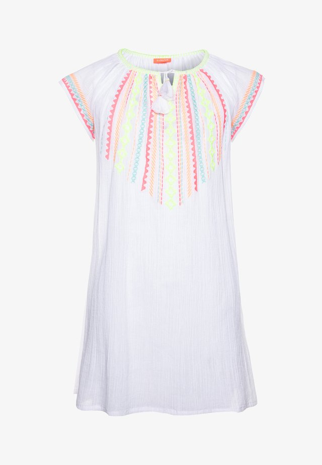 GIRLS EMBROIDERED CHEESECLOTH DRESS - Sukienka letnia - white