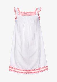 Sunuva - GIRLS EMBROIDERED FLUTTER SLEEVE DRESS - Sukienka letnia - white - 0