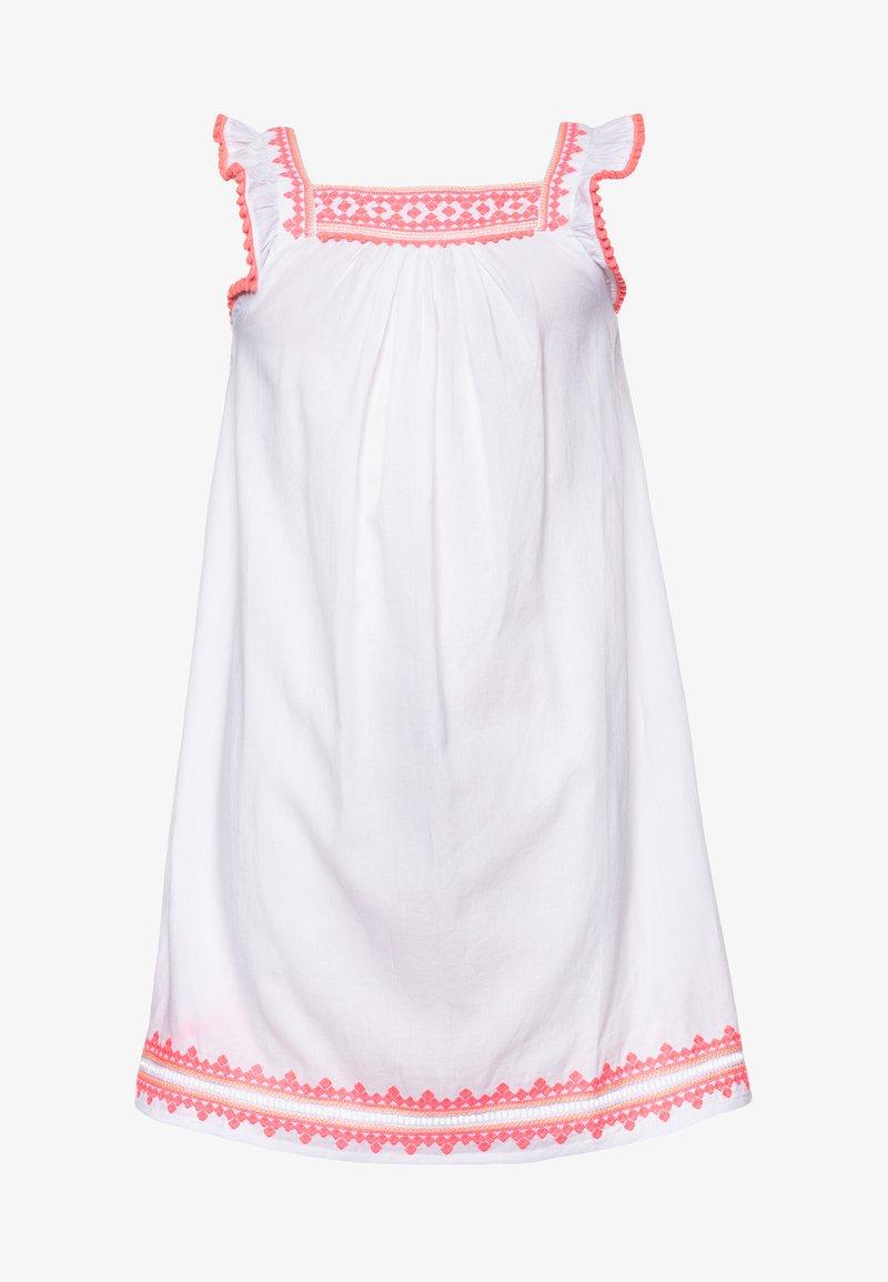 Sunuva - GIRLS EMBROIDERED FLUTTER SLEEVE DRESS - Sukienka letnia - white