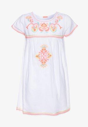 GIRLS EMBROIDERED PERUVIAN STITCH DRESS - Doplňky na pláž - white