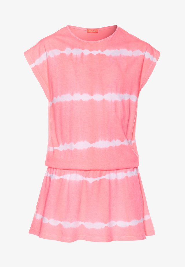 GIRLS TIE DYE DRESS - Accessoire de plage - pink