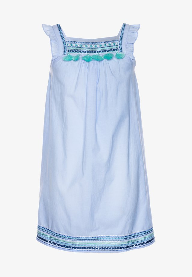 GIRLS EMBROIDERED FLUTTER SLEEVE DRESS - Akcesoria plażowe - blue