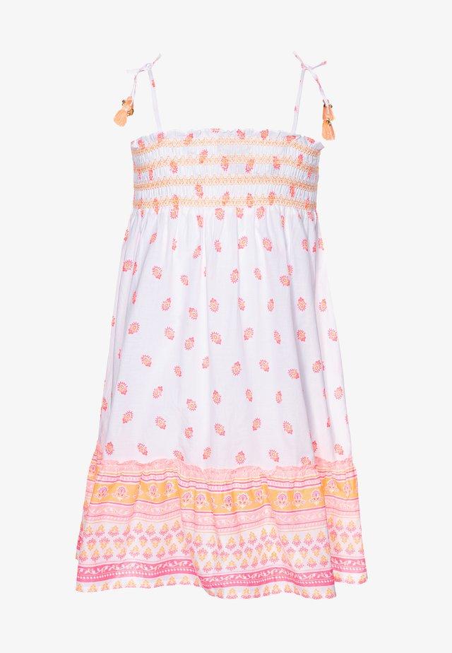 GIRLS BLOCK PRINT BELL DRESS - Akcesoria plażowe - sherbert pink