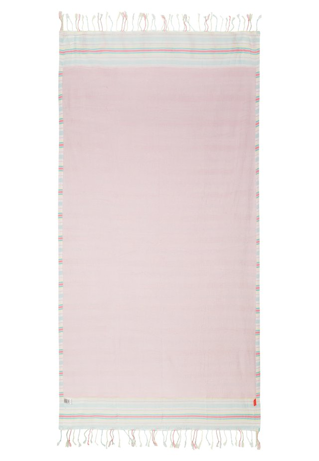 GIRLS PINK HORIZONTAL STRIPE BEACH TOWEL - Strandhandduk - pink