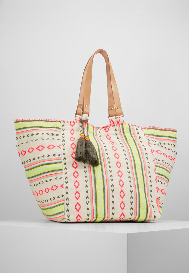 GIRLS TRIBAL STRIPE BEACH BAG - Shopping Bag - multi