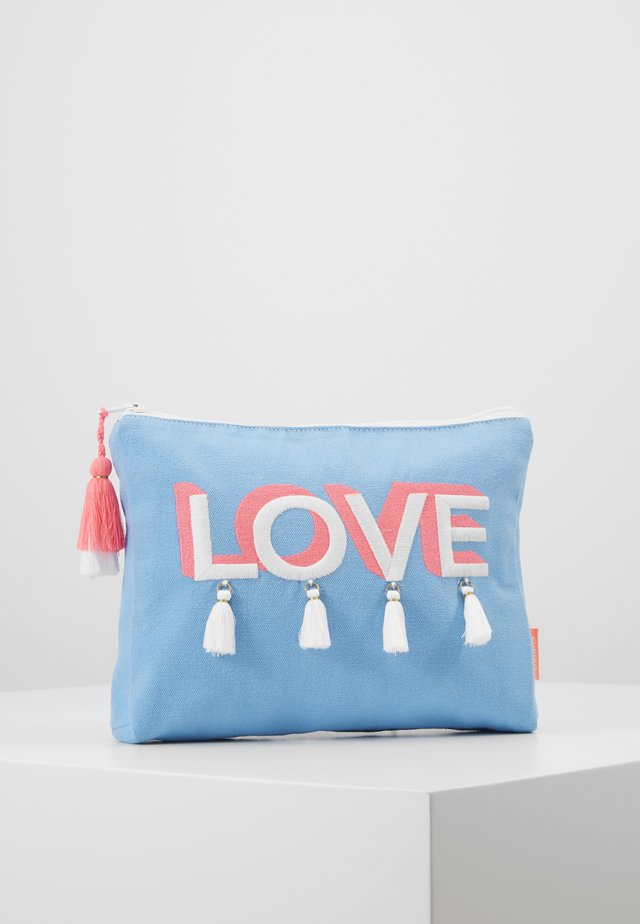 GIRLS 'LOVE' TASSEL WASHBAG - Kosmetiktasche - blue