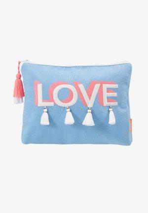 GIRLS 'LOVE' TASSEL WASHBAG - Kosmetická taška - blue