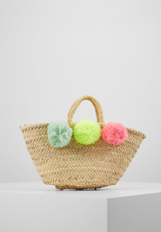 GIRLS POM POM BEACH BASKET - Handväska - multi