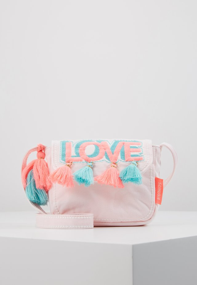 GIRLS PINK LOVE HIPPY BAG - Axelremsväska - pink