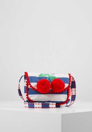 GIRLS STIPE CHERRIES HIPPY BAG - Across body bag - navy