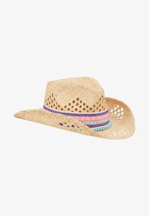 GIRLS NATURAL STRAW HAT - Hattu - natural