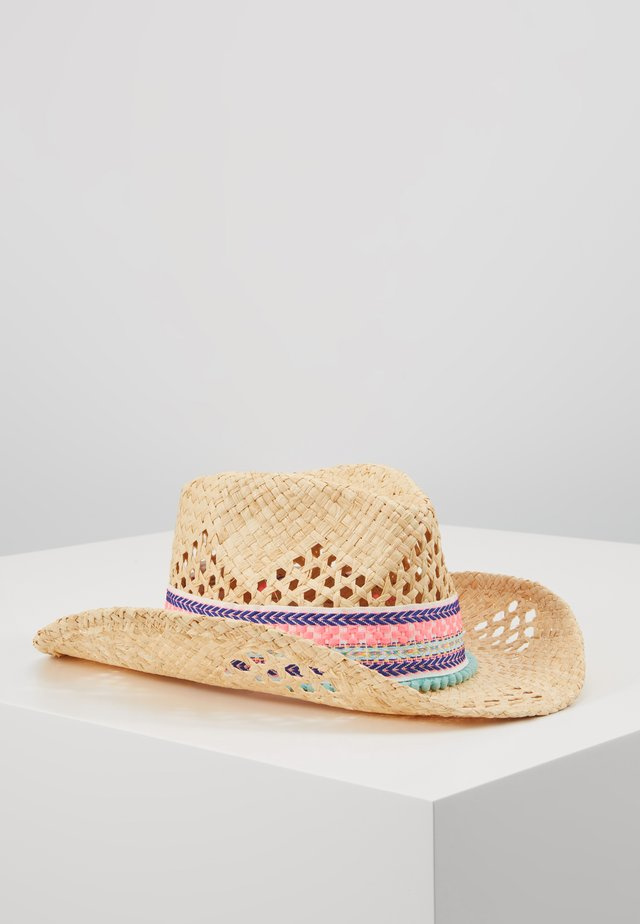 GIRLS NATURAL STRAW HAT - Klobouk - natural
