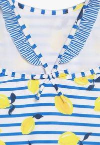 Sunuva - GIRLS FRILL STRAP SWIMSUIT - Badeanzug - blue/white - 3