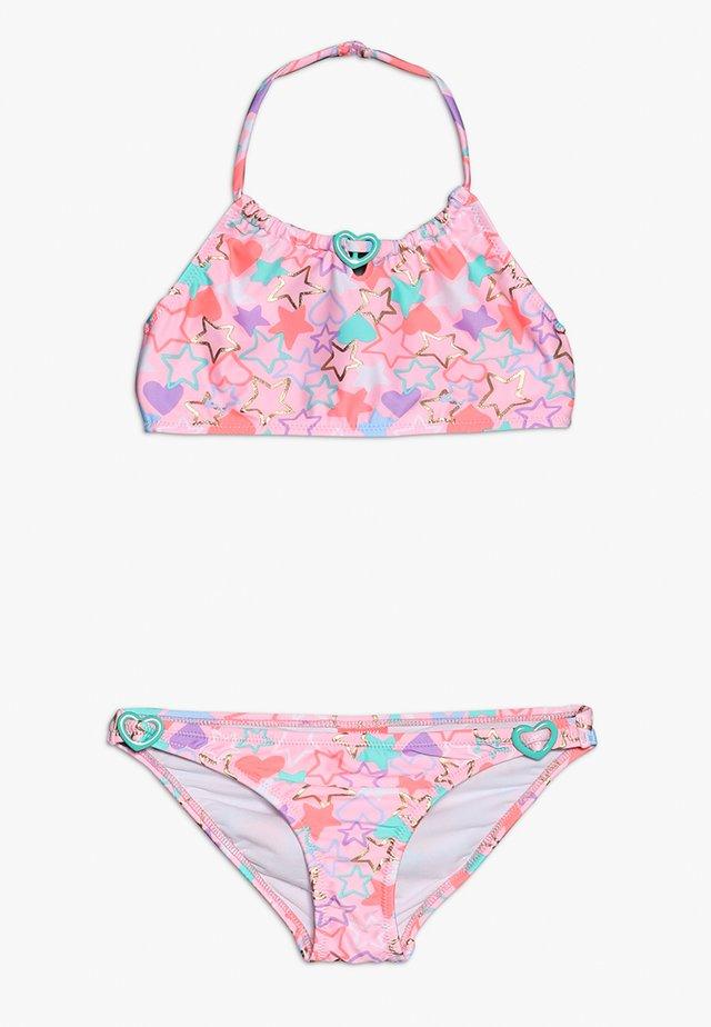 GIRLS BEADED HEART - Bikini - baby pink