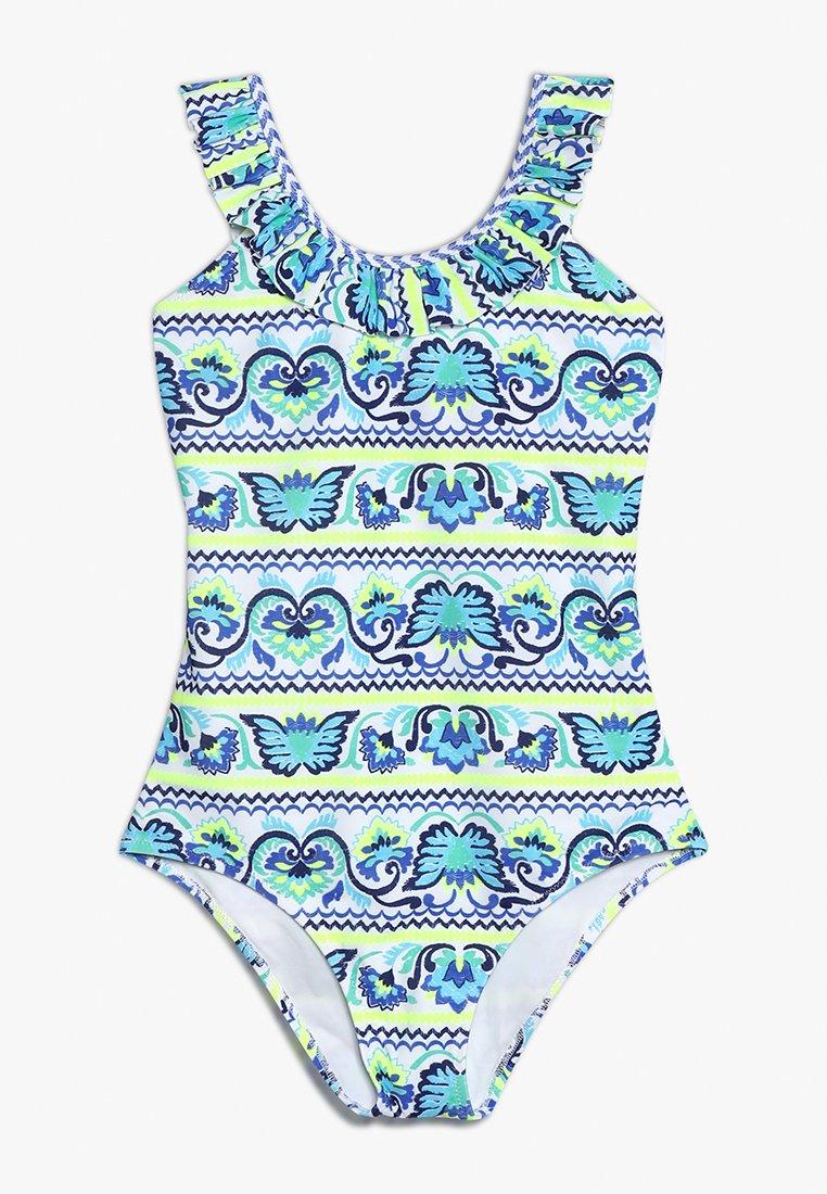 Sunuva - GIRLS FRILL SCOOP - Swimsuit - blue