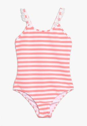 GIRLS FRILL STRAP SWIMSUIT - Badeanzug - sherbert pink