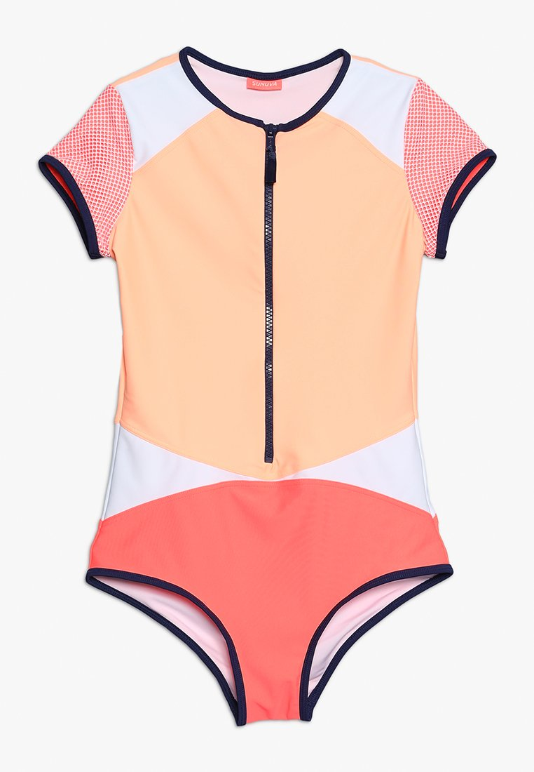 Sunuva - YOUTH GIRLS SURFSUIT - Swimsuit - hot coral