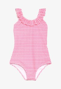 Sunuva - GIRLS BATIK FISH FRILL SCOOP SWIMSUIT - Kostium kąpielowy - pink - 2