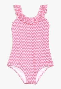 Sunuva - GIRLS BATIK FISH FRILL SCOOP SWIMSUIT - Kostium kąpielowy - pink - 0