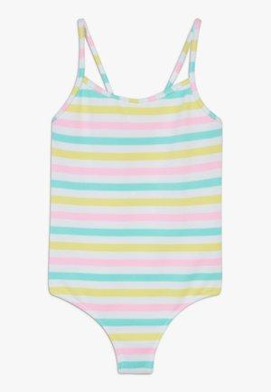 GIRLS STRIPE STRAPPY SWIMSUIT - Kostium kąpielowy - multi coloured