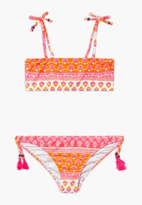 Sunuva - GIRLS BLOCK PRINT BANDEAU SET - Bikinier - sherbert pink - 0