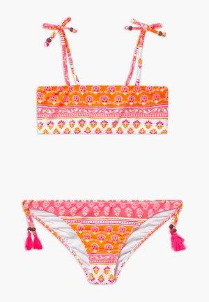 GIRLS BLOCK PRINT BANDEAU SET - Bikinier - sherbert pink