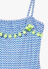 Sunuva - GIRLS BLUE ZIG ZAP POM POM FRILL - Kostium kąpielowy - blue - 2