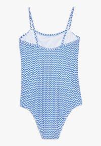 Sunuva - GIRLS BLUE ZIG ZAP POM POM FRILL - Kostium kąpielowy - blue - 1