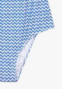 Sunuva - GIRLS BLUE ZIG ZAP POM POM FRILL - Kostium kąpielowy - blue - 4