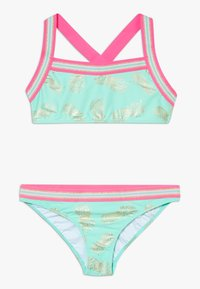 Sunuva - GIRLS PINEAPPLE GLITTER TRIM CROSS BACK SET - Bikiny - pastel green - 0