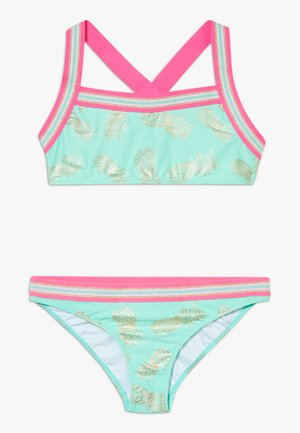 GIRLS PINEAPPLE GLITTER TRIM CROSS BACK SET - Bikini - pastel green