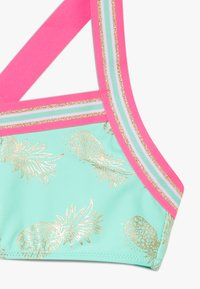 Sunuva - GIRLS PINEAPPLE GLITTER TRIM CROSS BACK SET - Bikiny - pastel green - 4