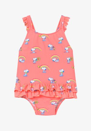GIRLS PINK SNOOPY FRILL SWIMSUIT - Badpak - pink