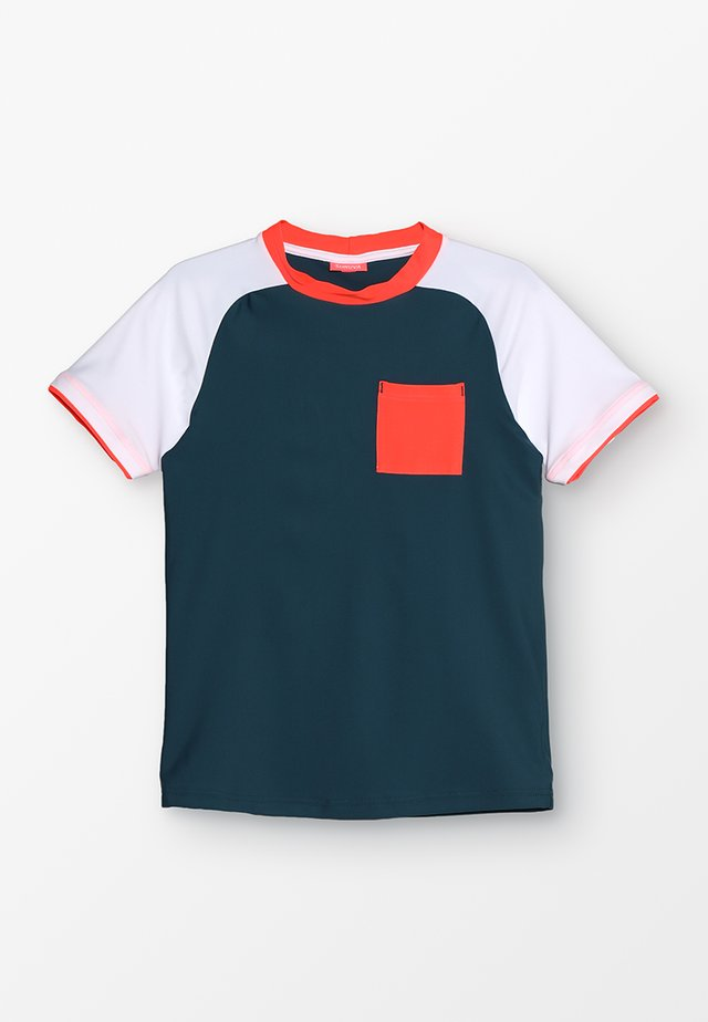 BOYS CURVE RAGLAN RASH - Koszulki do surfowania - dark teal