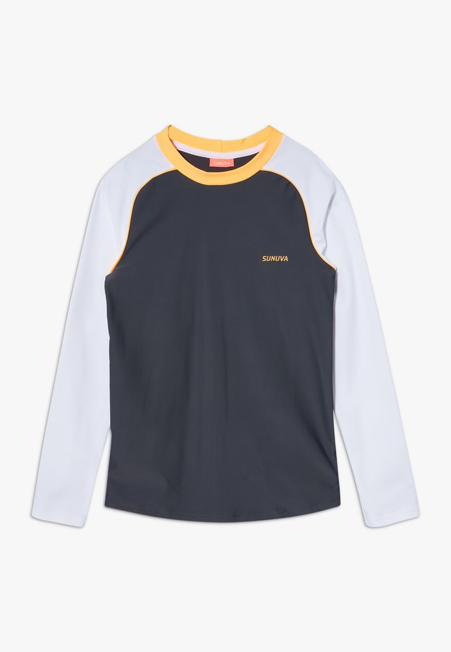 BOYS LONG SLEEVE RASH VEST - Koszulki do surfowania - charcoal grey