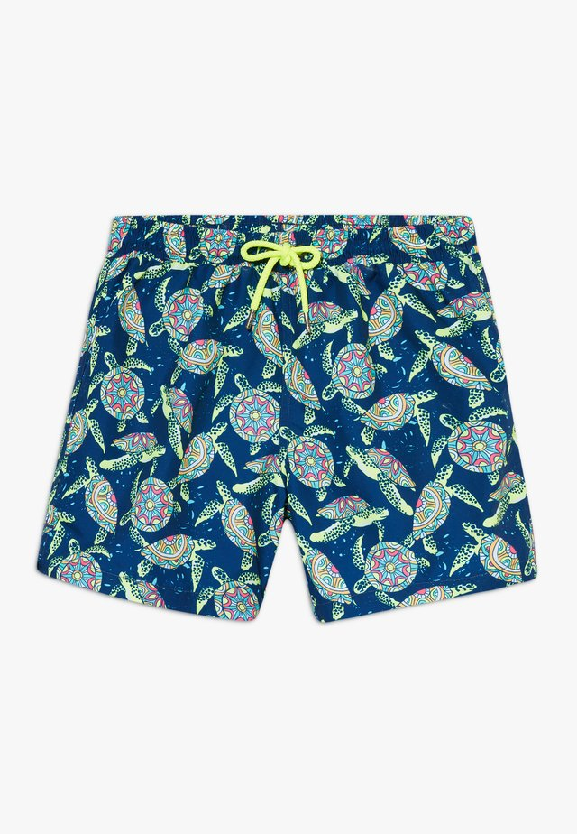 BOYS PHSYCHODELLIC TURTLE - Surfshorts - navy