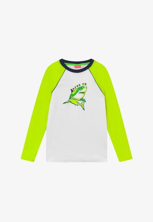 BOYS  SHARK LONG SLEEVE - Surfshirt - white