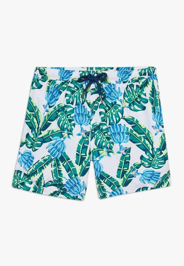 BOYS BLUE BANANA PALM - Badeshorts - blue