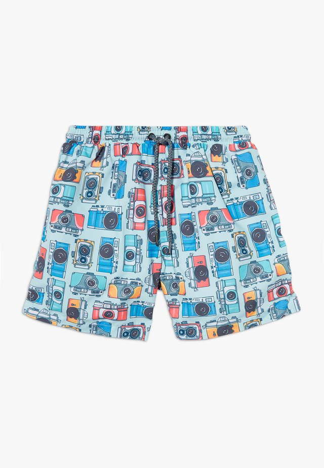 BOYS VINTAGE CAMERA SWIM - Szorty kąpielowe - blue