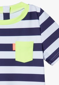Sunuva - STRIPE SUNSUIT - Badeanzug - navy - 4